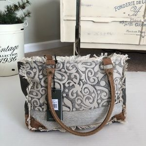 NWT Myra Bag Leaf Print Up-cycled Canvas Purse